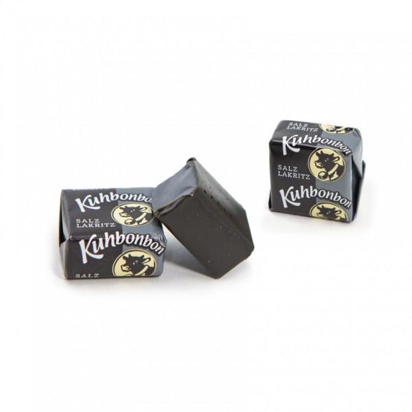 Yummy salt licorice soft caramels - individually wrapped