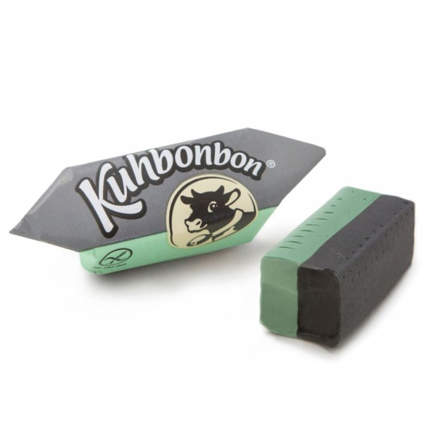 Kuhbonbon Mint Licorice - two-layered soft caramels