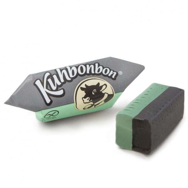 Kuhbonbon Mint Lakritz - zweischichtiges Karamellbonbon mit Minze