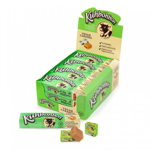 24 bars of Kuhbonbon Vegan Caramel - individually wrapped non-dairy soft caramels