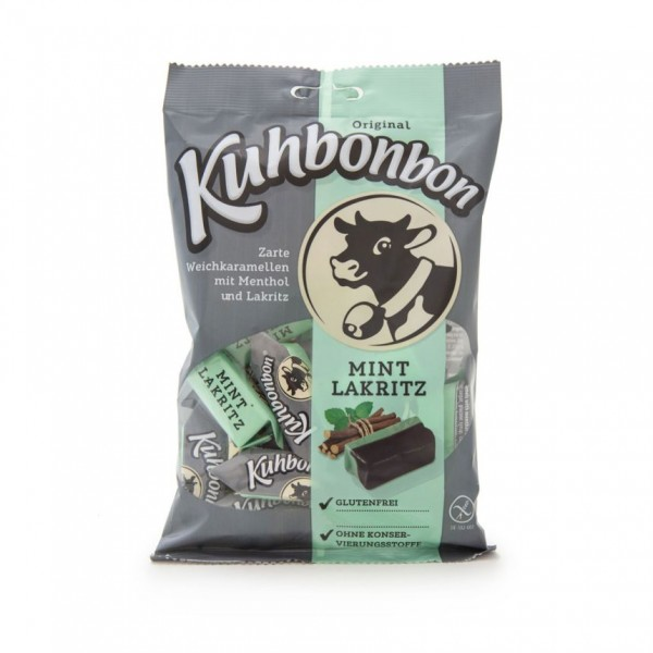 Kuhbonbon Mint Licorice - two-layered soft caramel candy