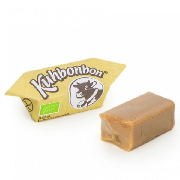 Bio-Karamellbonbons in der Nahaufnahme