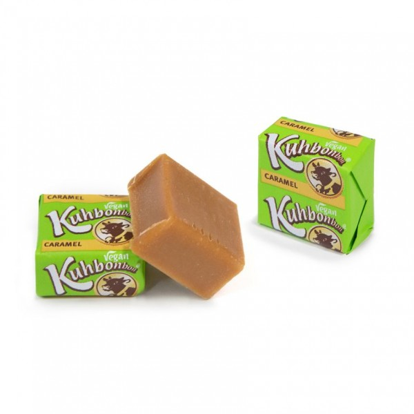 Individually wrapped soft veggie caramel squares