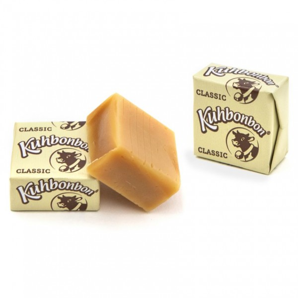 Yummy individually wrapped soft caramel cubes