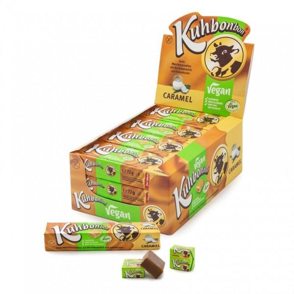 24 bars of Kuhbonbon Vegan Caramel - individually wrapped non-dairy soft caramels