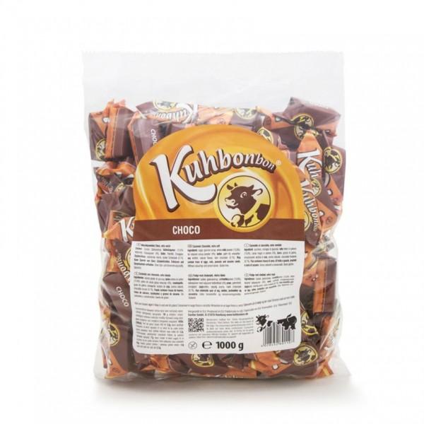 1000g Kuhbonbon Choco - Schokoladen-Karamellbonbons
