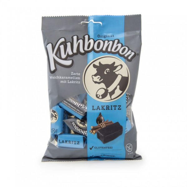 Kuhbonbon Licorice - soft caramel candy with salmiac
