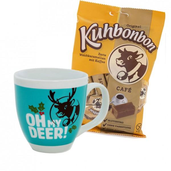 Weihnachts-Tasse mit Kuhbonbon Cafe