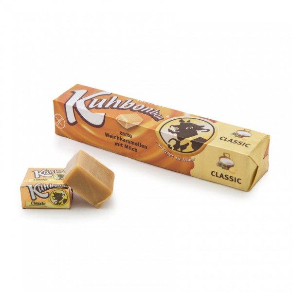 Kuhbonbon Classic stick pack with indivually wrapped soft caramels