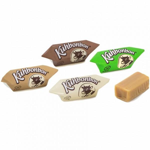 Kuhbonbon Selection: Classic, Café, Noisette und Choco Milchkaramellen