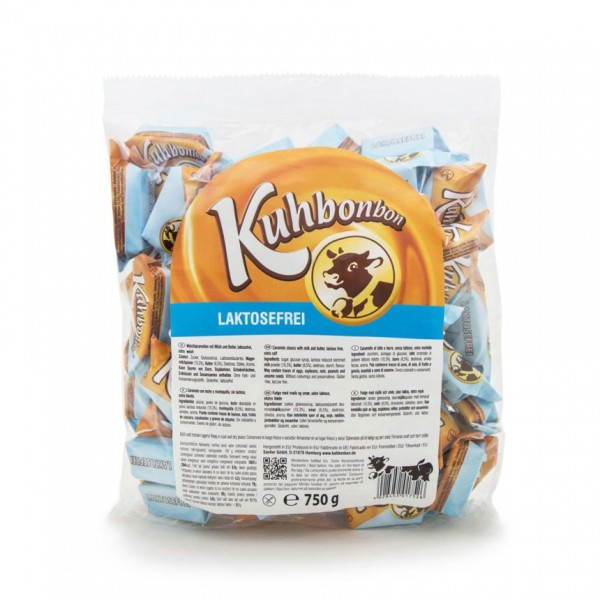 750 grams of soft caramels without milk sugar from Kuhbonbon