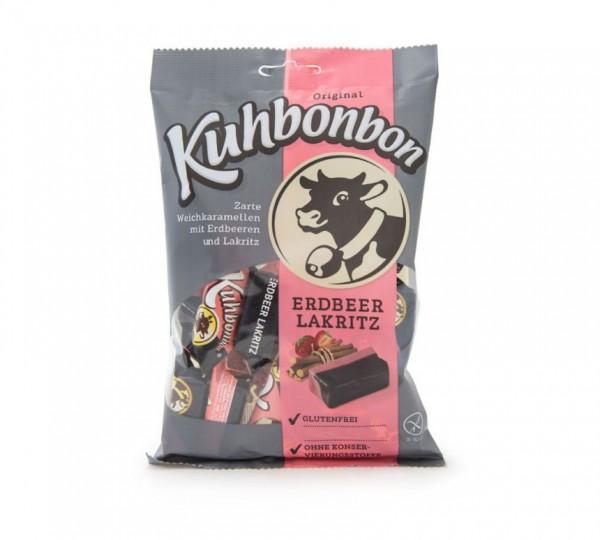Kuhbonbon Erdbeer Lakritz 200g Verkaufsverpackung, zweischichtige Weichkaramellen