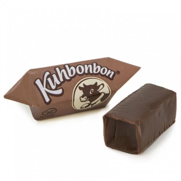 2 Schokoladen Karamellbonbons von Kuhbonbon